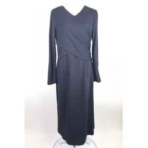 Lafayette 148 New York Dresses - Lafayette 148 Dress Blue Viscose Wrap Long Sleeve